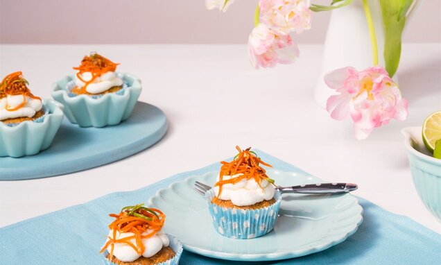 Carrot-Cupcakes mit Limetten-Mascarpone-Frosting