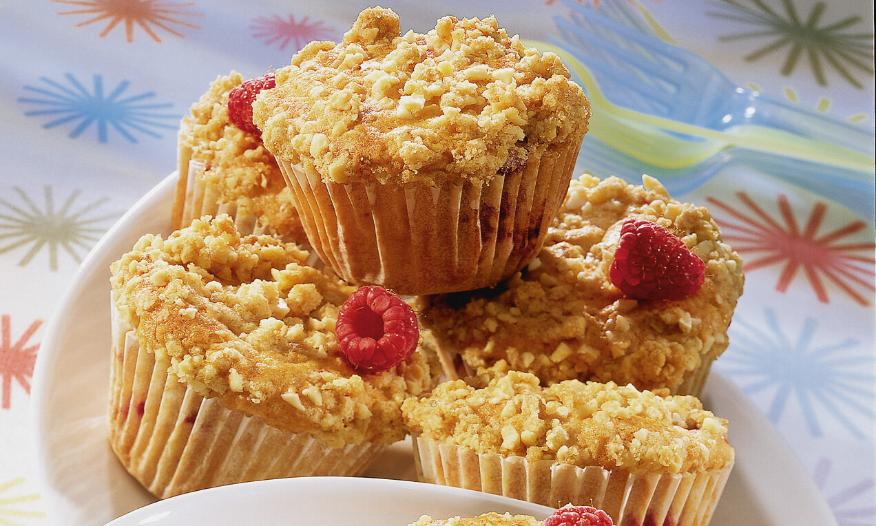 himbeere streusel muffins
