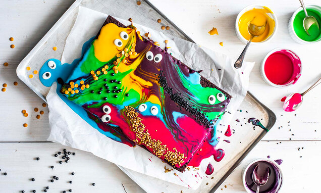 gruslig bunte brownies