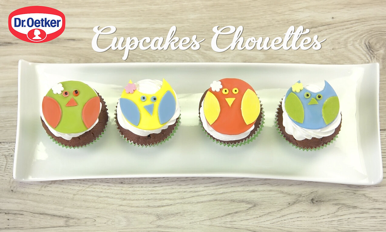 cupcakes chouettes