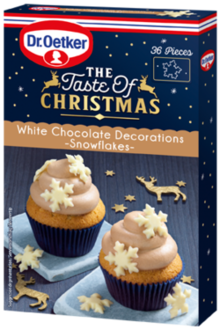 White Chocolate Decorations - Snowflakes